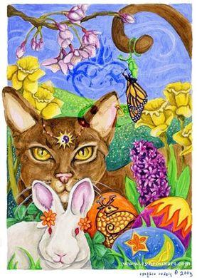 Ostara Cat and Hare