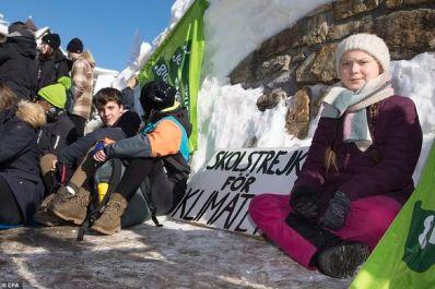 daily mail greta thunberg climate strike